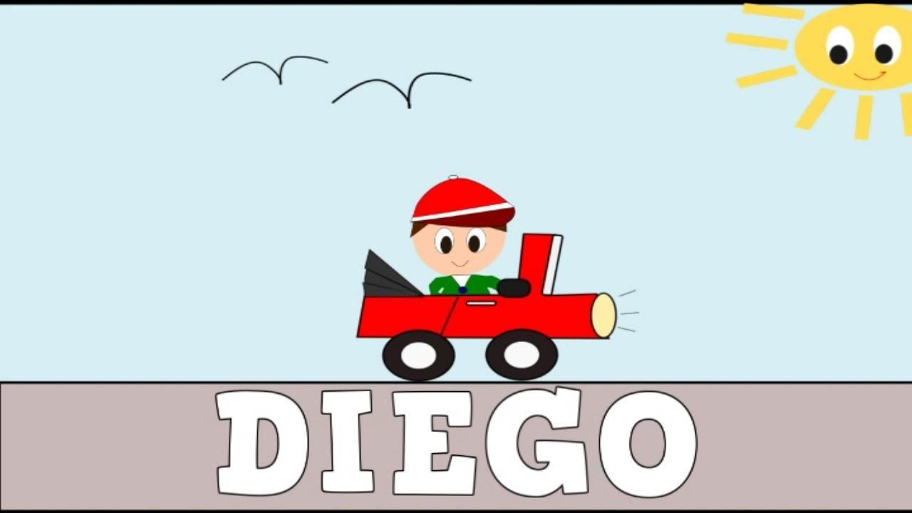 Aprender a Leer y Escribir DIEGO- Vídeos educativos para Niñosy Bebés - Paty y Poty