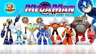 Every MEGA MAN Fully Charged Figures Cartoon Network Wave Man Ice Man Air Man Drill Man & Guts Man