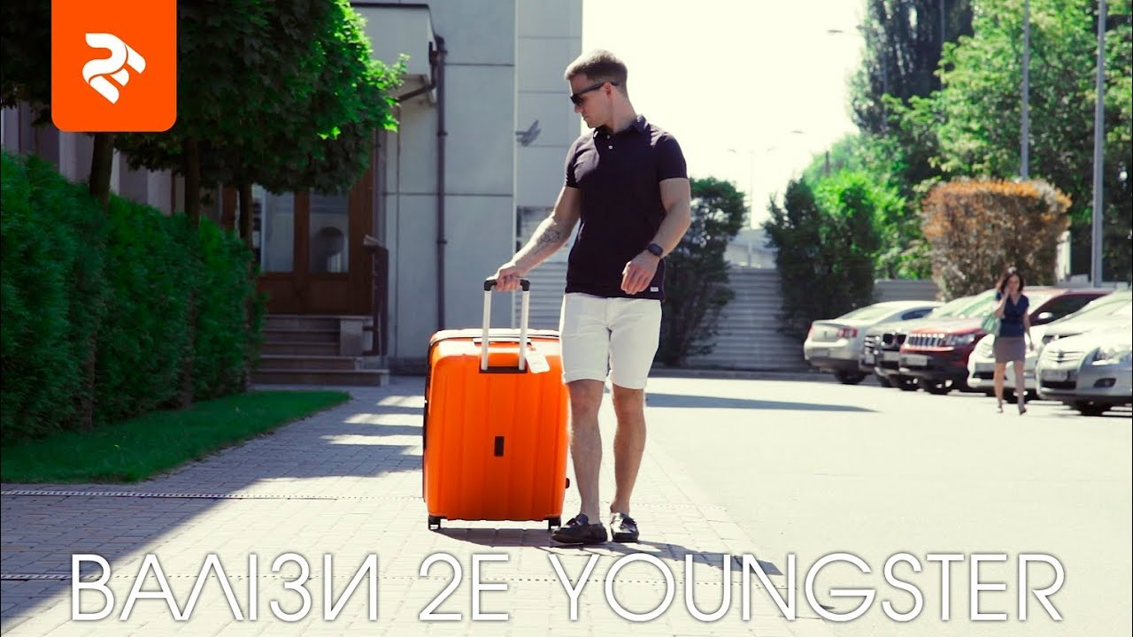 "Чемодан 2E Youngster 24"" (Navy) 2E-SPPY-M-NV video preview"