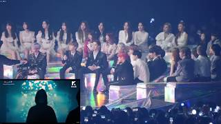 kpop idol reaction bts performance mma 2018 - मुफ्त
