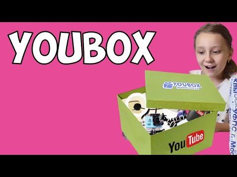 Распаковка Youbox. Что в коробке YouTube Box? Сюрприз Юбокс.