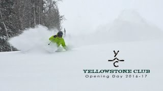 Yellowstone Club Opening Day 2016-2017 Ski Season