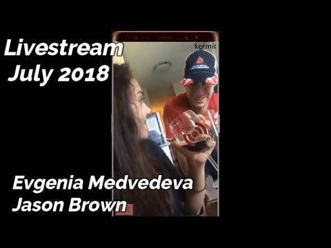 Evgenia Medvedeva Jason Brown LIVESTREAM [ENG SUBS]