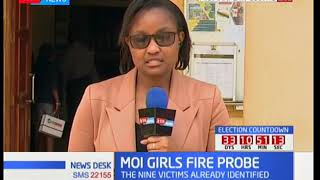 Main suspect in arson to be charged; Moi Girls probe