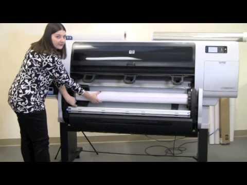 HP Designjet T7100 Media Handling