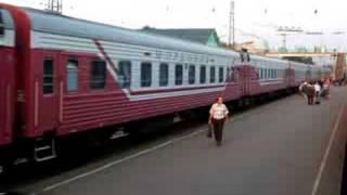 """Fast train """"Mordovia"""" (Moskva - Saransk) at Kovilkino"""