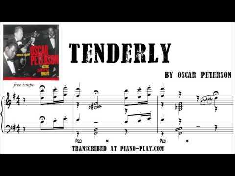 Oscar Peterson - Tenderly transcription in PDF, MIDI