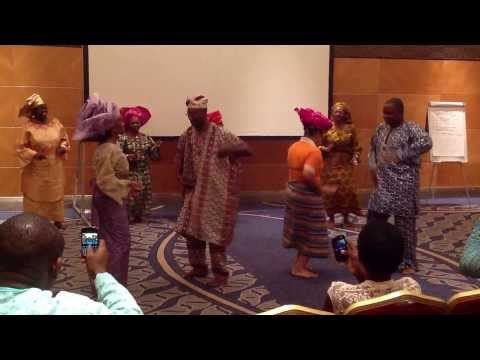 Yoruba Dance Presentation by UNFPA Nigeria Colleagues at Retreat 2013