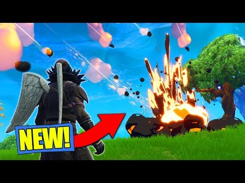 meteor hitting map gameplay in fortnite battle royale - brace of impact fortnite