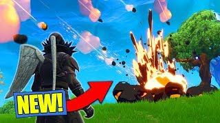 *NEW* METEOR HITTING MAP GAMEPLAY In Fortnite Battle Royale! [ITS HAPPENING!]