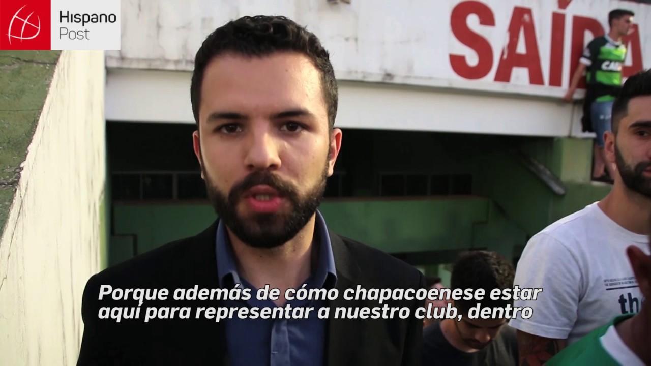 Ciudadanos en Chapeco rinden homenaje a su equipo