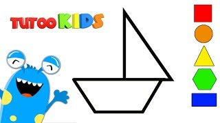 Learn SHAPES with geometric figures | Educational video  for children | TutooKids