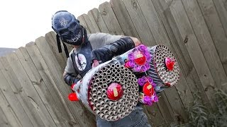 CRAZIEST FIREWORKS GUN EVER MADE! 1500 FIREBALLS! Zombie Go Boom