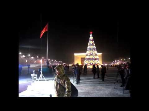 Бишкек, зажгли новогонюю Елку на площади