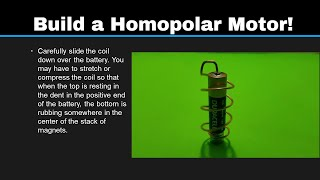 Simple Science 5: Make a Homopolar Motor