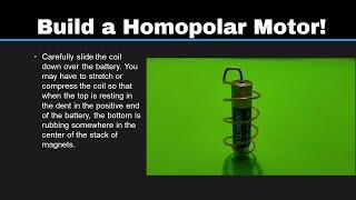 Simple Science 5: Make a Homopolar Motor