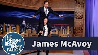 James McAvoy Gives Jimmy A Ride On His Shoulders