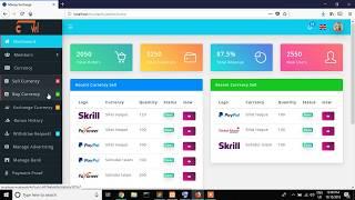 Online money exchange web application with laravel 5.7