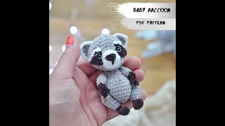 REVIEW: Amigurumi Teddy Raccoon (3.5) CROCHET PATTERN | Crochet Mini Toy | Miniature Animals Toy