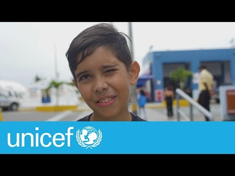 From Venezuela to his mother's arms I UNICEF