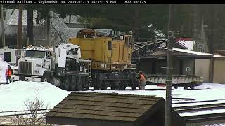 Yeah, There's a Truck and a Crane on the Tracks