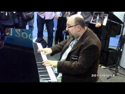 Marian Petrescu - Fantastic Pianist @ NAMM 2011 online metal music video by MARIAN PETRESCU