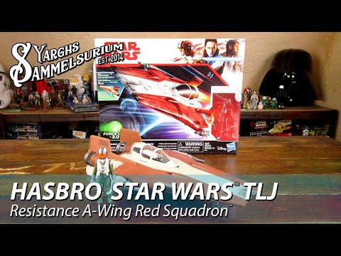 Review HASBRO Star Wars TLJ - Resistance A-Wing Red Squadron - Unboxing deutsch