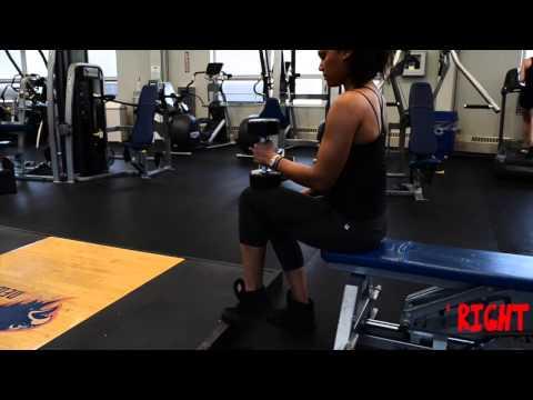 Dumbbell Seated One-Leg Calf Raise