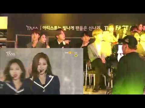 BTS react to TWICE Yes or Yes & Dance the Night Away at The Fact Music Awards 2019