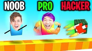 Can We Go NOOB vs PRO vs HACKER In DRAW CLIMBER!? (UNLOCKED BEST LEGS!!)