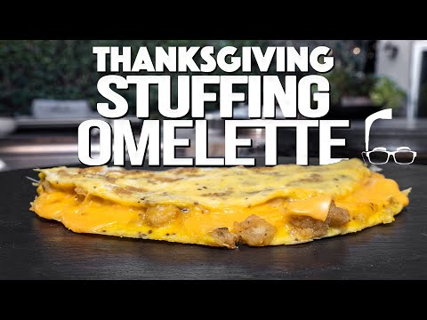 THANKSGIVING STUFFING OMELETTE (LEFTOVERS GAME CHANGER)
