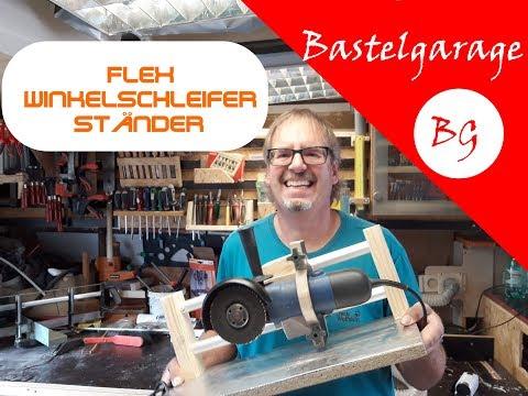 Selbstgebaute Flex / Winkelschleifer-Halterung,  Trennständer - Angle Grinder Sliding Cutting Jig