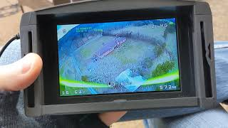 Candid FPV drone flight.