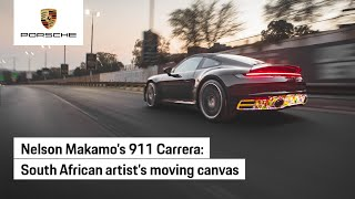 Artist Nelson Makamo turns a 911 into a magical moving canvas