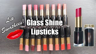 REVLON Super Lustrous GLASS SHINE Lipsticks: LIP SWATCHES & Review