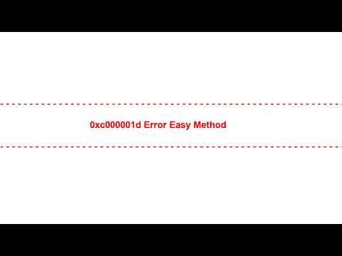 0xc000001d Error Easy Method
