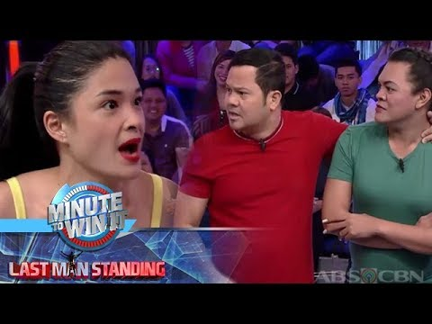 Minute To Win It - Yam, Bayani, Juliana and Zeus reenact a famous scene from Halik