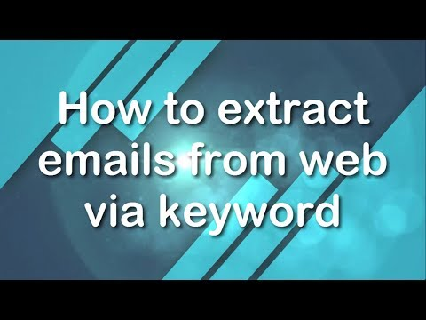 Download How To Extract Email Addresses Through Keywords