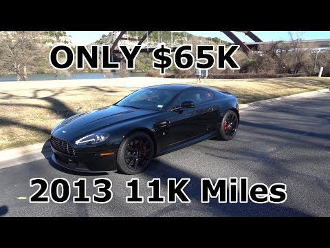 Nearly Flawless 2013 Aston Martin Vantage 6 Speed Manual For Sale