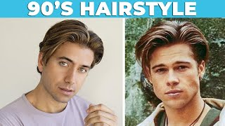 90s VINTAGE HAIRSTYLE (Curtains)   Middle Part Men's Haircut   Alex Costa