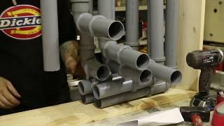 Трубофон. Самодельный инструмент из канализации.