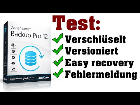 günstige Backup Software im Test: Ashampoo Backup Pro 12