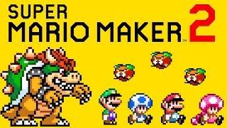 Super Mario Maker 2 - All 4 Pre-Title Screen Start-Up Sequences