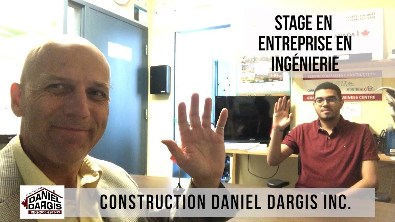 Stage experience en entreprise en ingénierie Polytechnique Montréal - Daniel Dargis ingénieur