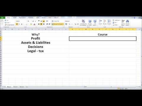 Free Online Bookkeeping Course #1 - Introduction - Why do you ...