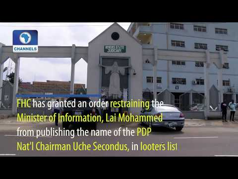 Court Restrains Lai Mohammed From Publishing Secondus Name On Looters' List