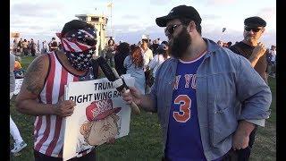 ANTIFA Gets Violent At Trump Protest in Laguna Beach   FLECCAS TALKS