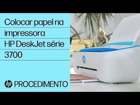 Colocar papel na impressora HP DeskJet série 3700