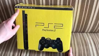 Sony PS 2 Slim.Распаковка полной комплектации (как с магазина)+вертикальная подставка FF 12
