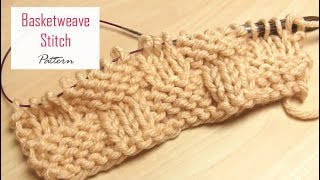 How to Knit: Basketweave Stitch Pattern | Easy Texture Tutorial for Beginners | Knitting Lesson